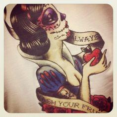 Tattoo - Snow White Sugarskull