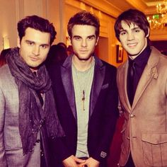 Michael Malarkey, Nathaniel Buzolic & Steven R. McQueen  Too much sexy in one picture.