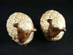 Vintage Sheep Salt and Pepper Shakers by KissingKansasWinds, $4.99