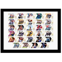 Win an Official Team GB Gold Medal Winners Stamps Framed Set