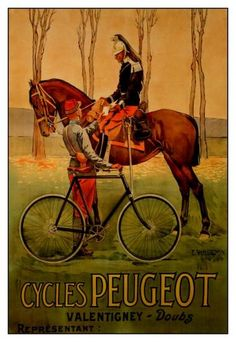 Peugeot bicycle poster (1895) by Ernest Vulliemin