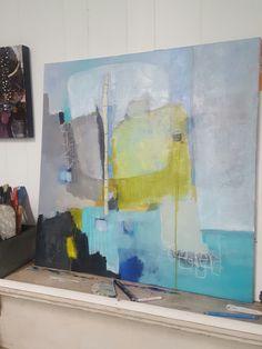 New work in progress. 30 x 30. 'Falling'