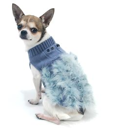 Shop where every purchase helps shelter pets! Oscar Newman Whoo Me Sweater - Slate Blue - from $50.95