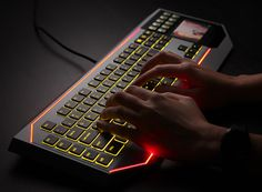 Star Wars Keyboard Features LCD Touch-Screen Display