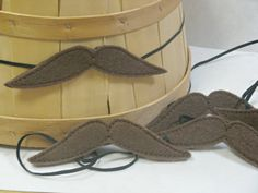 Felt Mustache Pretend Play Dress Up Photo Prop by lilliannamarie, $6.00