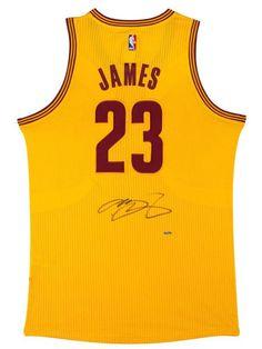 20edecdf6 LEBRON JAMES Autographed Cleveland Cavaliers Alternate Gold Jersey UDA