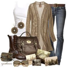 Love this long sweater, under shirt, jeans, and boots!