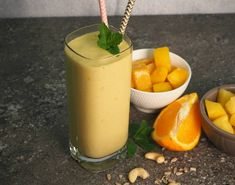 This creamy, refreshing tropical smoothie not only tastes amazing but it contains ingredients to help with gut health and digestion. My Recipes, Whole Food Recipes, Chocolate Granola, Substitute For Egg, Dairy Free Milk, Grass Fed Beef, Gut Health, Comfort Foods, Chocolate Recipes