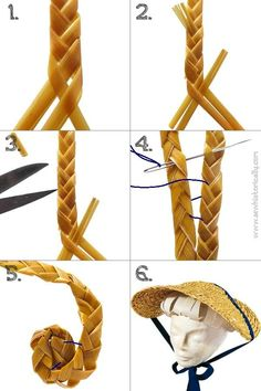 How To Make A Straw Hat From Scratch Tam O' Shanter, Diy Clothes Refashion, Sewing Tutorials, Sewing Patterns, 19th Century Fashion, Diy And Crafts Sewing, Diy Hat, Historical Costume, Sewing Techniques