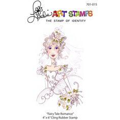 Loralie Designs fairy tale romance woman rubber stamp