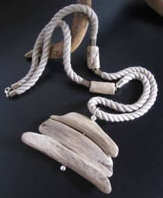 Wooden necklace - natural statement piece made from drift wood