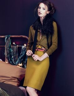 J. Crew September 2010 - love the chartreuse color palette.