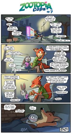 Zootopia cops. Page 7. End