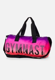 Justice is your one-stop-shop for on-trend styles in tween girls clothing & accessories. Shop our Gymnastics Ombre Duffle Bag. Gymnastics Bags, Gymnastics Outfits, Gymnastics Things, Gymnastics Quotes, Justice Bags, Justice Stuff, Cute School Bags, Cute Mini Backpacks, Birthday Presents For Girls