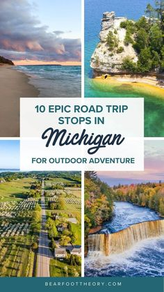 Plan your Michigan road trip with this guide to the best stops for outdoor adventure, including the Upper Peninsula and Western Michigan. Road Trip Essentials, Road Trip Hacks, Road Trips, Western Michigan, Michigan Travel, Usa Travel Guide, Travel Usa, Travel Tips, Cold Weather Camping