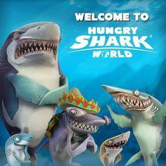 Hungry Shark World - Управляйте голодными акулами, которые поглощают всё на своём пути.