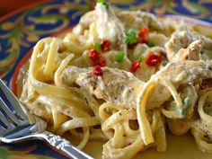 Nawlins style of chicken with an updated Alfredo sauce.