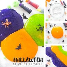 What you need to know to make this simple Halloween themed slime. A great hands on sensory activity for your elementary aged kids! Fun for homeschool, distance learning and th classroom this fall season. Make this homemade Halloween slime recipe this season with the kids. Halloween Science, Halloween Activities For Kids, Preschool Projects, Holiday Activities, Stem Activities, Cool Slime Recipes, Easy Slime Recipe, Homemade Halloween, Easy Halloween