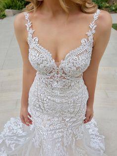 V Neck Wedding Dress, Long Wedding Dresses, Perfect Wedding Dress, Designer Wedding Dresses, Wedding Attire, Stunning Wedding Dresses, Strapless Wedding Gowns, Luxury Wedding Dress, Lace Mermaid Wedding Dress