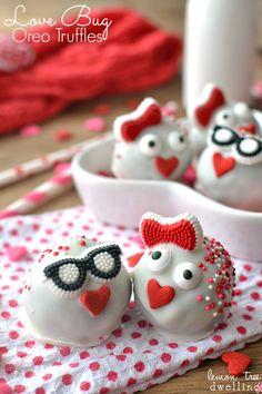 Love Bug Oreo Truffles. How CUTE are these!?