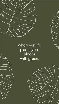 Inspirational Quotes from Functional Rustic Wherever life plants you, bloom with grace. 10 Inspirational Quotes from Functional Rustic Wherever life plants you, bloom with grace. Pretty Words, Beautiful Words, Positive Affirmations, Positive Quotes, Words Quotes, Life Quotes, Sayings, Happy Words, Girls In Love
