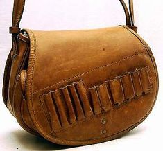 abef52d0d08 Ловна чанта  Leather Hunting Shot Shell and Rifle Cartridge Bag Vintage