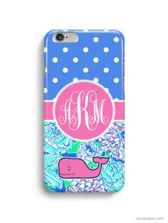 Polka Dot Customized Inspired Vineyard Vines Lilly Pulitzer iPhone 6 Case, iPhone 5S Case