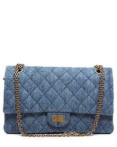 8dfc6d06dffd71 Chanel Quilted Denim Jumbo 2.55 Reissue Flap Bag My Bags, Designer  Handbags, Bag,