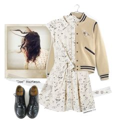 """""""Sweet."""" by s-elle ❤ liked on Polyvore featuring Polaroid, Madewell, Rebecca Taylor, Dr. Martens and throwbackstyle"""