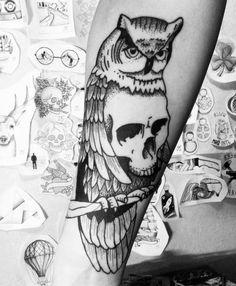 #тату #татуировка #домашняятатуировка #графика #дотворк #дотворктату #чб #лайнворк #сова #череп #tattoo #graphic #dotwork #dotworktattoo #bw #hometattoo #linework #scull #owl