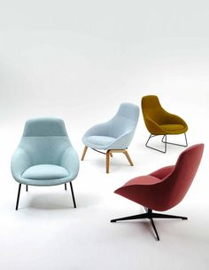 naughtone Always Lounge Chair. Perfect for lounge interiors and break out spaces Lounge Chair Design, Lounge Chairs, Soft Seating, Commercial Furniture, Furniture Design, Furniture Legs, Metal Furniture, Office Furniture, Modern Furniture