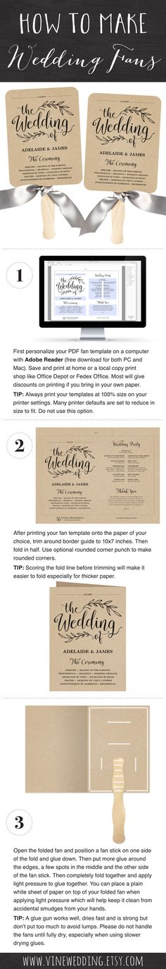 Printable wedding fan program template. DIY kraft paper wedding fan program. #weddingProgram #weddingPrograms #wedding #fan #program #diy #kraft #printable #programs #vinewedding