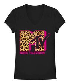 Love this Black Jaguar MTV Logo Tee - Juniors by Fifth Sun on #zulily! #zulilyfinds
