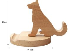 Wooden Cat Cell Phone iPad Stand Holder