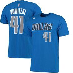 Dirk Nowitzki Dallas Mavericks adidas Net Number T-Shirt - Blue - $27.99
