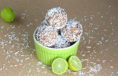 Key Lime Coconut Energy Bites — a healthier taste of the tropics!