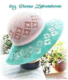 Здравствуйте, рукоделочки! Вот связалась у меня такая шляпка, для себя любимой, жду не дождусь отпуска, чтоб выгулять ее на берегу Черного моря  Делюсь и с вами схемками, вдруг кому пригодится!!