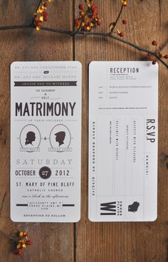 Lucy & Stefan on Behance - also good inspiration to modify into a plane ticket.