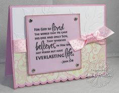 Ericka's Confirmation Card by LoriDreamsStampin - Cards and Paper Crafts at Splitcoaststampers
