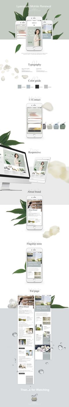 욱스웹디자인아카데미-Lyanature mobile redesign - Design by Kim-jiwon