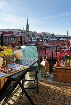 Balcony in the city
