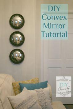 DIY Styrofoam convex mirror tutorial @ DIY Show Off