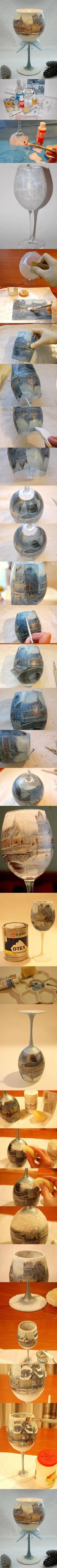 wine glass snow globe!