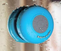 Wireless Bluetooth shower speaker. Now I can jam to sweet tunes in the shower without getting judgmental looks as a drag my speaker system through the bathroom door.