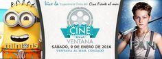 Cine en la Ventana: Enero 2016 #sondeaquipr #cineenlaventana #paralosninos #ventanaalmar #condado #sanjuan #minions #pan