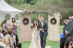 Lavender, Eucalyptus Vintage Door Wedding Arch