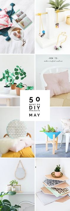 Spring is around the corner and new interior projects are on the horizon! Why not try out these 50 DIY projects to brighten up your interior?
