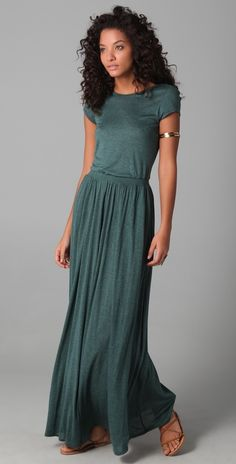 Heather Maxi Tee Dress. Would love this with a jacket