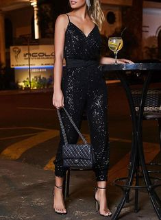 Color: Solid Material: Style: Elegant Waist Type: High Waist Pattern Type: Sequin Length: Long Season All Package Contents: 1 X Jumpsuit Sequin Jumpsuit, Backless Jumpsuit, Elegant Jumpsuit, Jumpsuit Hijab, Jumpsuit Outfit, Bodycon Dress With Sleeves, Dresses With Sleeves, Mini Dresses, Floral Dresses