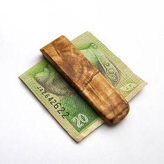 wlkr / Drevené spony na peniaze / Špaltovaná javorová spona na peniaze Money Clip, Money Clips